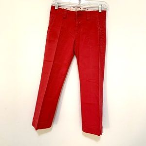 Aeropostale red cropped jeans